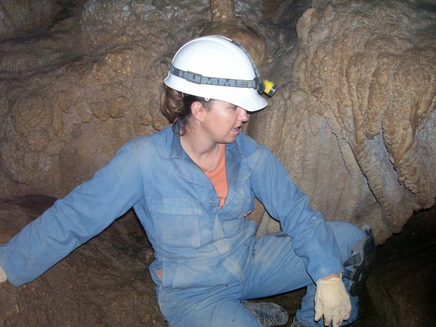 Jessica in Samwell Cave in 2007