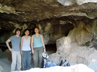 Field team 2007 in entry to Samwell Cave.