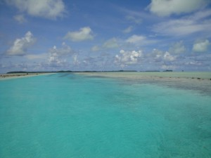 Channel between two reefs in the Rock Islands, Palau