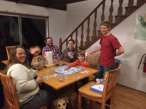 The lab testing out (and loving) the new game Go Extinct!