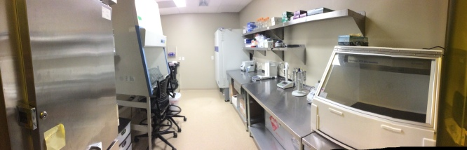 The aDNA extraction room